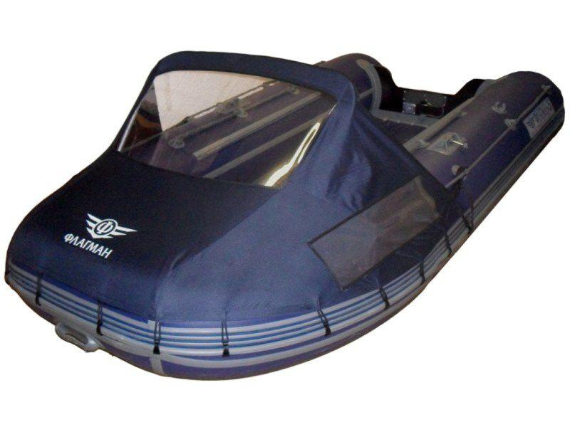 носовой тент со стеклом для лодки пвх